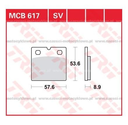 Klocki hamulcowe TRW MCB617SV