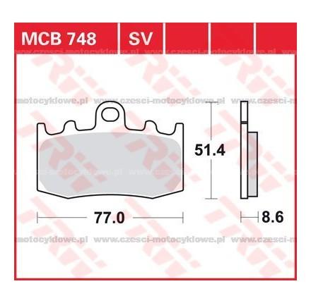Klocki hamulcowe TRW MCB748SV