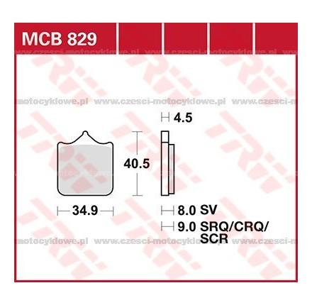 Klocki hamulcowe TRW MCB829SCR