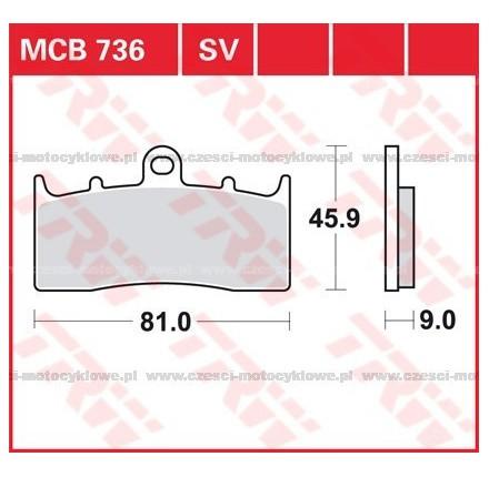 Klocki hamulcowe TRW MCB736SV