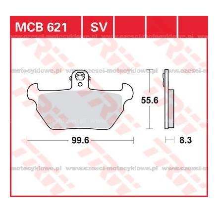 Klocki hamulcowe TRW MCB621SV