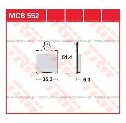 Klocki hamulcowe TRW MCB552