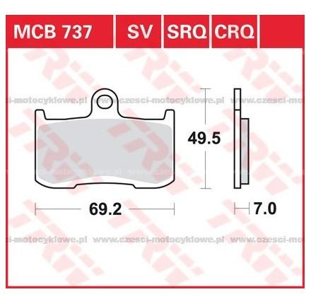 Klocki hamulcowe TRW MCB737