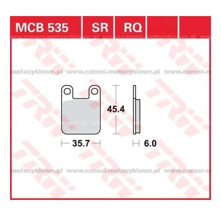 Klocki hamulcowe TRW MCB535