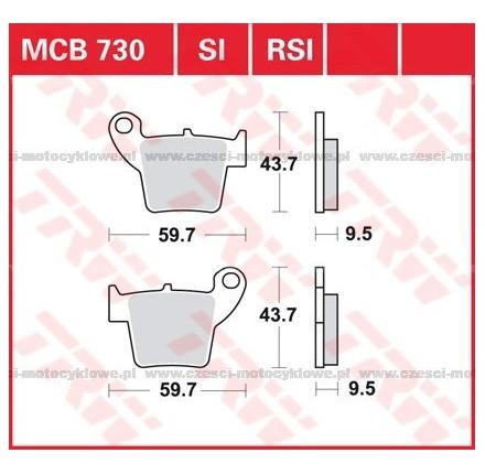 Klocki hamulcowe TRW MCB730SI