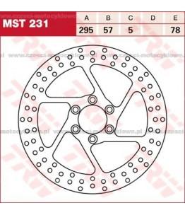 Tarcza hamulcowa TRW, sztywna kod: MST 231