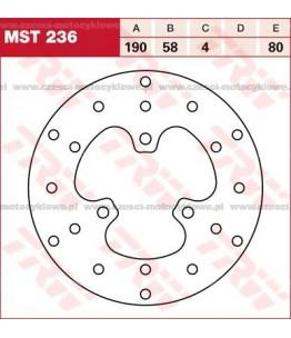 Tarcza hamulcowa TRW, sztywna kod: MST 236