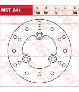 Tarcza hamulcowa TRW przednia, sztywna kod: MST 241