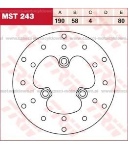 Tarcza hamulcowa TRW, sztywna kod: MST 243