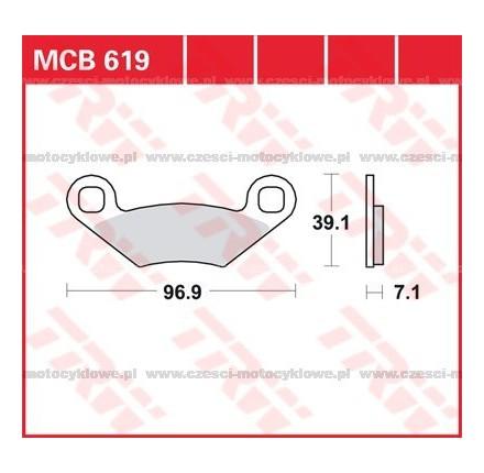 Klocki hamulcowe TRW MCB619