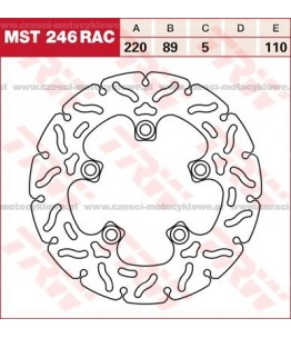 Tarcza hamulcowa TRW, sztywna, tuningowa RAC kod: MST 246 RAC