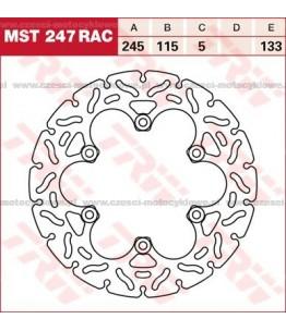 Tarcza hamulcowa TRW, sztywna, tuningowa RAC kod: MST 247 RAC