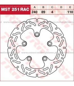 Tarcza hamulcowa TRW, sztywna, tuningowa RAC kod: MST 251 RAC