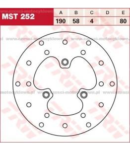 Tarcza hamulcowa TRW, sztywna kod: MST 252