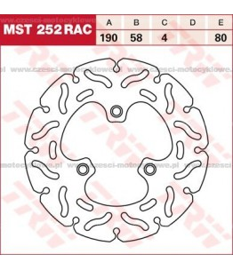 Tarcza hamulcowa TRW, sztywna, tuningowa RAC kod: MST 252 RAC