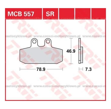 Klocki hamulcowe TRW MCB557
