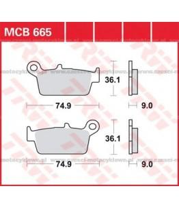 Klocki hamulcowe TRW MCB665