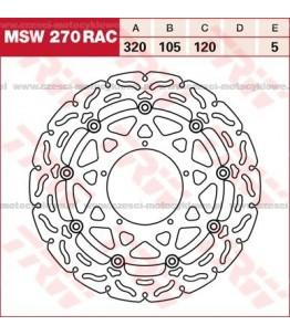 Tarcza hamulcowa TRW, pływająca, tuningowa RAC kod: MSW 270 RAC