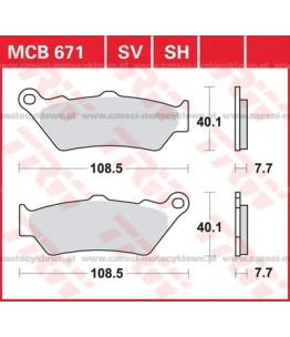 Klocki hamulcowe TRW MCB671