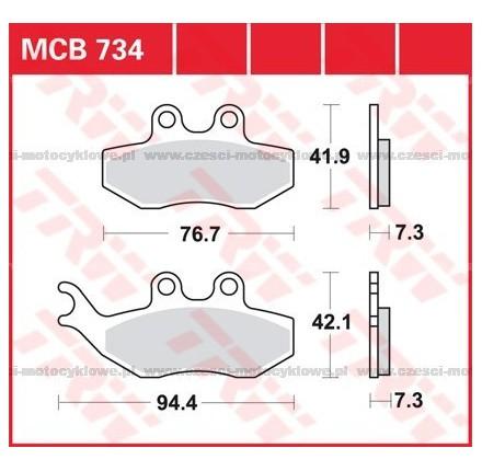 Klocki hamulcowe TRW MCB734