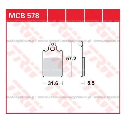 Klocki hamulcowe TRW MCB578