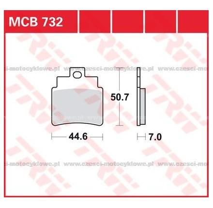 Klocki hamulcowe TRW MCB732SI