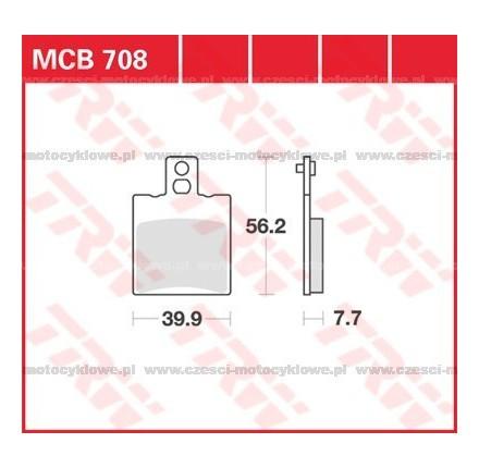 Klocki hamulcowe TRW MCB708