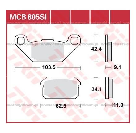 Klocki hamulcowe TRW MCB805SI