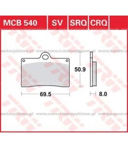 Klocki hamulcowe TRW MCB540SV
