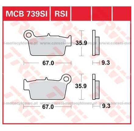 Klocki hamulcowe TRW MCB739SI
