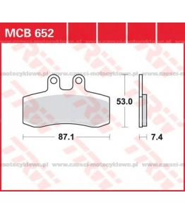 Klocki hamulcowe TRW MCB652
